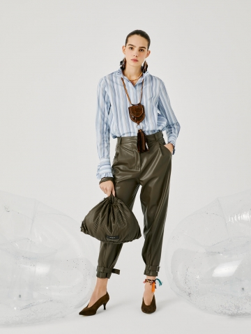 strap-hem faux leather trousers 21FA1432LUCY_780