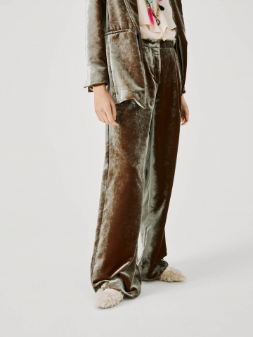 large pants in iridescent velvet 21FA1516CANDY_780