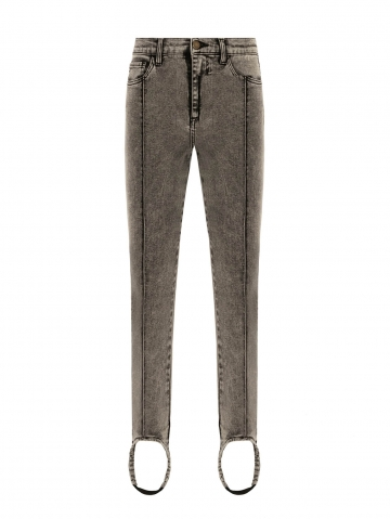 marbled jeans with gaiter 21FA1552GRAY_95