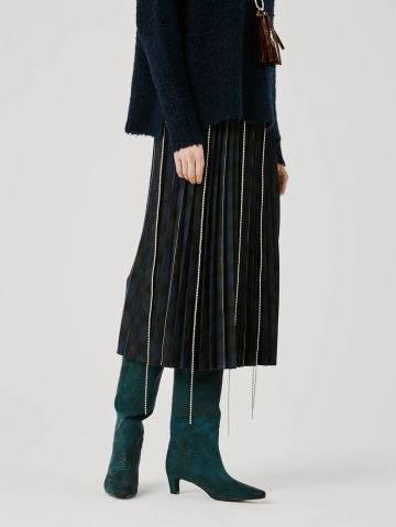 pleated chequered skirt with nickel details 21FA5595ST275_590